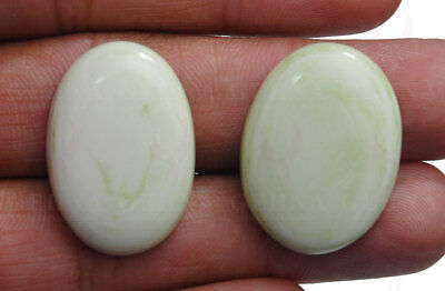 A Pair Of 27 X 20 X 6 Mm Oval Shaped Gaspeite Gemstone Ss1183