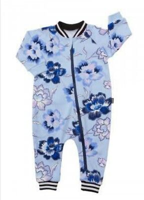 Bonds size 2 NWT winter warmers blue purple floral