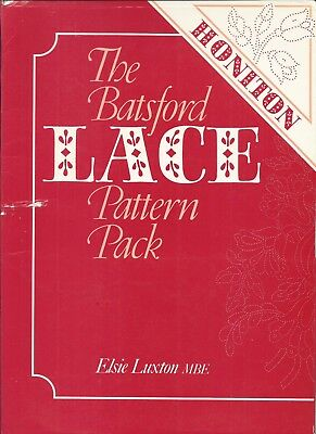 BATSFORD LACE PATTERN PACK - HONITION - 125 Prickings on 32 work cards E LUXTON
