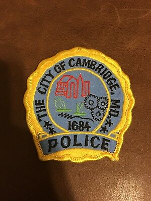 Cambridge Police Patch Maryland MD
