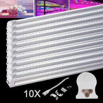 10X 15W 90cm T8LED Pflanzenlampe Tube voll spektrum Röhre Grow Light Transparent