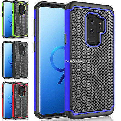 Shockproof Workman Protective Dual Layer Case Cover Fits Samsung Galaxy S9, S9+