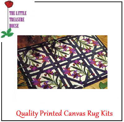 Stained Glass Latch Hook Rug Kit Large size - *NEW* everything included