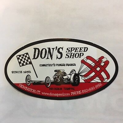 Don's Speed Shop Est. 1953 Vintage Sticker/decal New England's Oldest Speed Shop