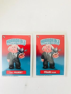 Horrible Kids Garbage Pail Kids 2018 Set Tall Manny, Fran Tasm  Mark Pingitore
