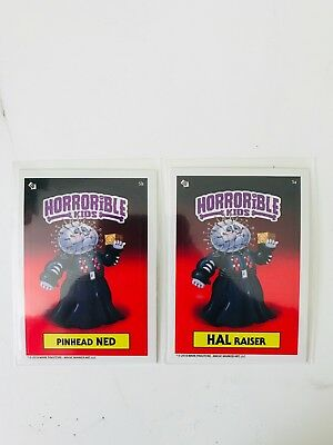 Horrible Kids Garbage Pail Kids 2018 Set Pinhead Ned, Hal Raiser Mark Pingitore