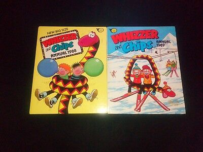 Whizzer And Chips Annuals x 2 1988/1989 Vintage/Retro U.K Comic Near Mint