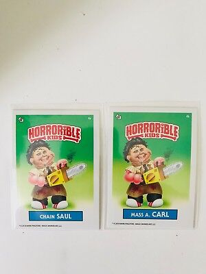 Horrible Kids Garbage Pail Kids 2018 Set Chain Saul, Mass A. Carl Mark Pingitore