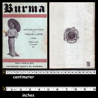 Burma Myanmar Rangoon  Broshure Book with Map  - original 1900s