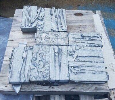 """Lead Ballast Weights 25 lbs 8"""" long 4"""" wide 2"""" thick Surplus"""