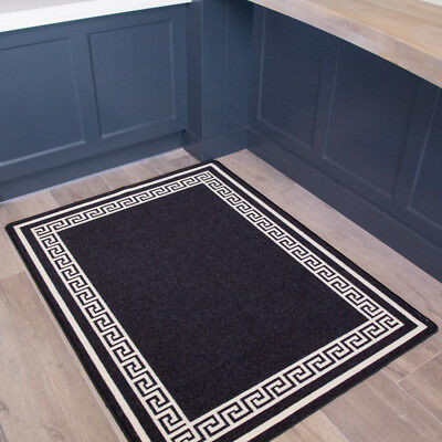 Spiral Dots Black Area Rugs Runners