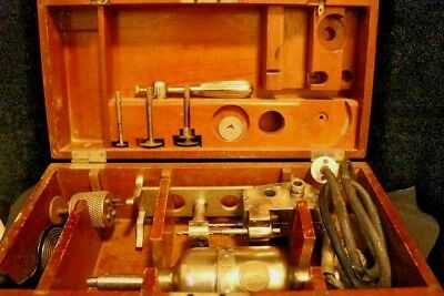 A MUST SEE..Antique Sheerer Electrical Surgical Bone Saw and Trephine Boxed Set