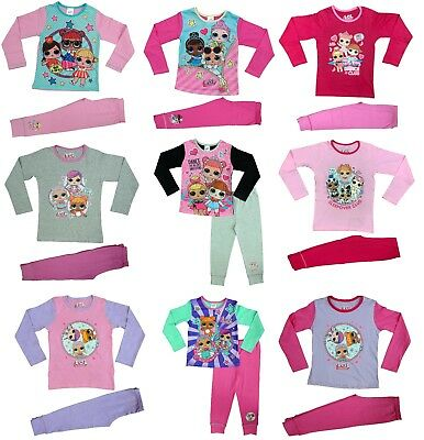 LOL Surprise Dolls Girls Pyjama Set Pj's Nightwear Ages 4 to 10 years