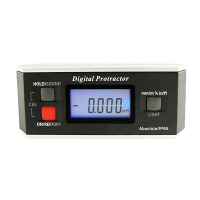 Digital Angle Finder LCD Digital Angle Gauge Waterproof Protractor Bevel Box
