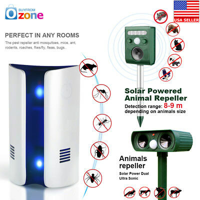 Ultrasonic Pest Reject Electronic Magnetic Repeller Anti Animal Repellent US