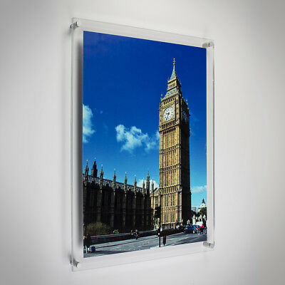 """Modern Acrylic Picture & Photo Frames Wall Mounted, 16x12"""" Print & Best Quality"""