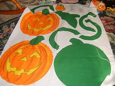 Quilted Pumpkin Jack O Lantern Halloween Sewing panel H2F fabric holiday fall