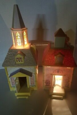 Vintage Fisher Price Precious Places Lot Chruch Chappel and Stable