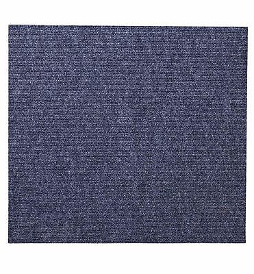 B&q Blue Carpet Tiles, Pack Of 10 - Home - Office - Bacteria Resistant - New