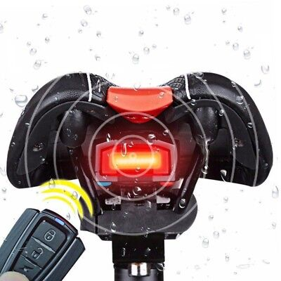 4In1 Bicycle Bike Security Lock Alarm LED Tail Lights Anti-theft +Remote Control