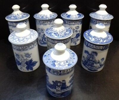 """Spode  """"the Blue Room Collection""""  Spice Jars"""