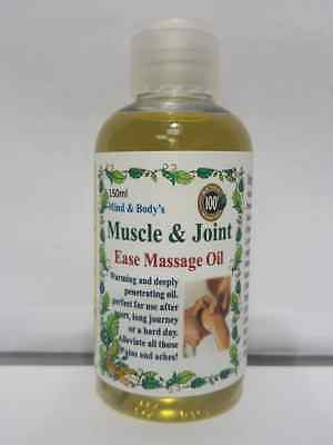 100% pure freshly blend Aromatherapy Massage oil for Muscle & Joint ease, pains