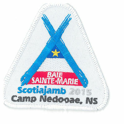 Scotiajamb 2015 Baie Sainte-Marie embroidered badge crest patch