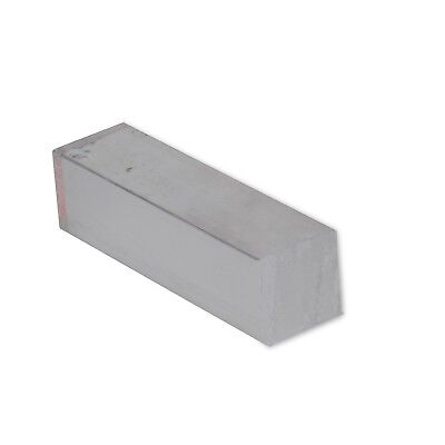 "1/2"" x 1/2"" Stainless Steel Flat Bar, 304 Square, 8"" Length, Mill Stock, 0.5"""