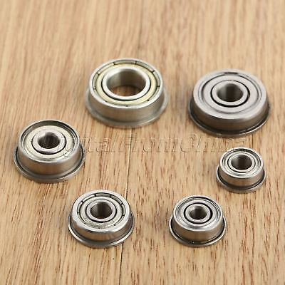 10Pcs Mini Shielded Flange Ball Bearing of Shafts Bearing For 3D printer Machine