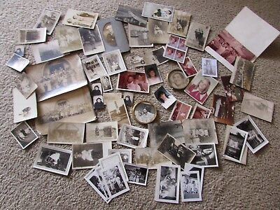 Lot Of Vintage Photographs Most Black And White B&W Few Military Images