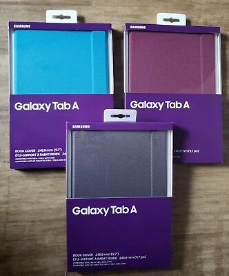 """NEW OEM Samsung Galaxy Tab A 9.7"""" Canvas Book Cover Case for Tablet T550 T555"""