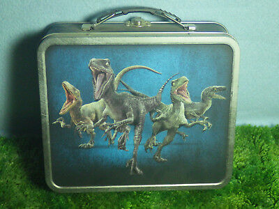 Jurassic World Collectable Tin Lunchbox with Raptors  MINT