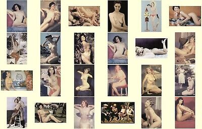 Vintage Lot Of 24 Different Pinups Nude Post Card Set 2