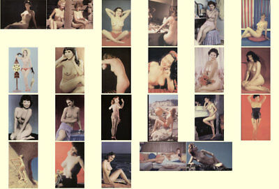 Vintage Lot Of 24 Different Pinups Nude Post Card Set 1