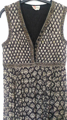Dress Phool Gauze Indian Vintage Vest Quilted India Hippie