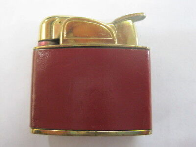 Vintage 1950 Evans Spitfire petite ladies red leather? wrapped lighter gold tone