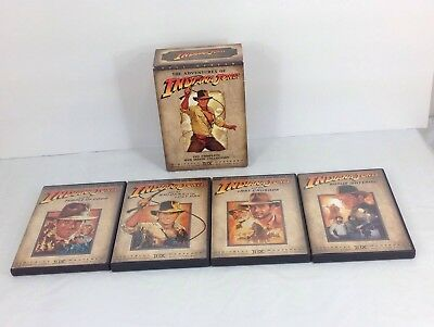 The Adventures of Indiana Jones, Complete DVD Movie Collection, 4 DVD Box Set^