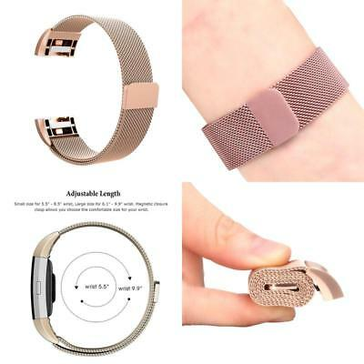 for Fitbit Charge 2 Bands Stainless Steel Milanese Loop Metal Replacement Strap