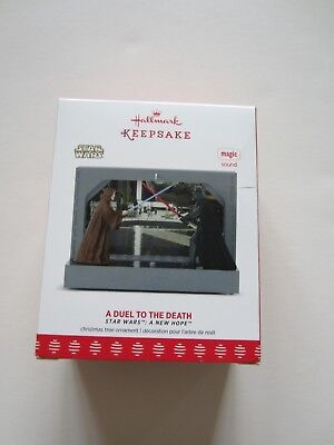 New Star Wars Hallmark Keepsake A Duel to the Death w/ Recorded Sound Dialogue