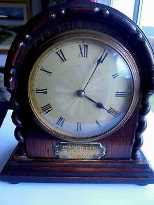 EDWARDIAN  barley twist MANTLE CLOCK