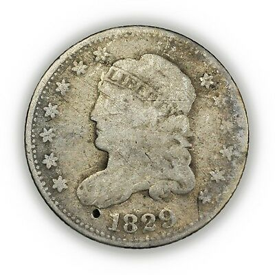 1829 Capped Bust Half Dime, Tiny, Silver, Early Type Coin [3819.10]