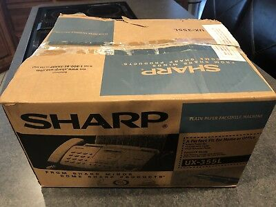 New Sharp Fax Machine UX-355L Plain Paper Facsimile