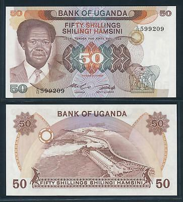 [74768] Uganda ND 1985 50 Shillings Bank Note UNC P20