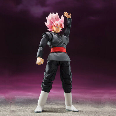 Dragon Ball Super Saiyan Rose Goku Black Original Package S.H Figurats DBZ SHF