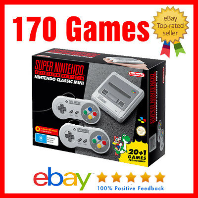 NEW Genuine Super Nintendo SNES classic mini 170 Tested Hand Picked games PAL