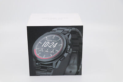 38ec7cf03a7e New Michael Kors Access Men s Grayson MKT5029 Black Smartwatch  Open Box