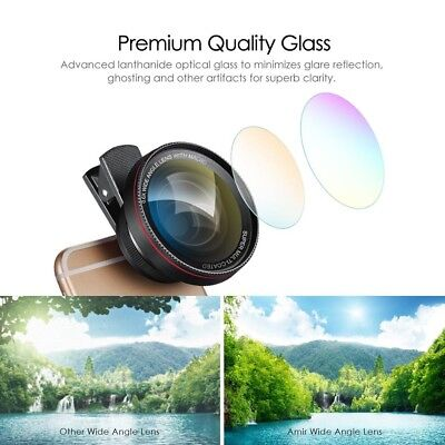 0.6X Super Wide Angle Lens Clip-On Cell Phone Lens 2 in 1 HD Camera Lens Kit