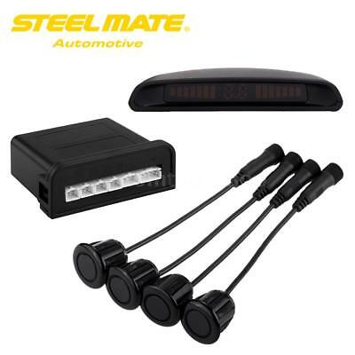 HQ Steelmate Car 4 Parking Sensor Vehicle Reverse Radar Alarm System LED X8R0