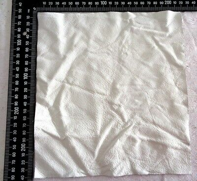 Brand New WHITE 24x22cm, 1 Piece GENUINE LEATHER SCRAPS , OFF CUTS for CRAFTS