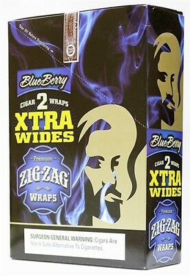 Zig Zag Xtra Wides Blueberry Blunt Wraps 25count Full Box